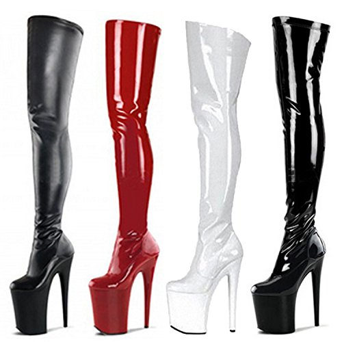 Heel Knee Nonbrand Stiletto Women's Boots Synthetic Over White XEE7w