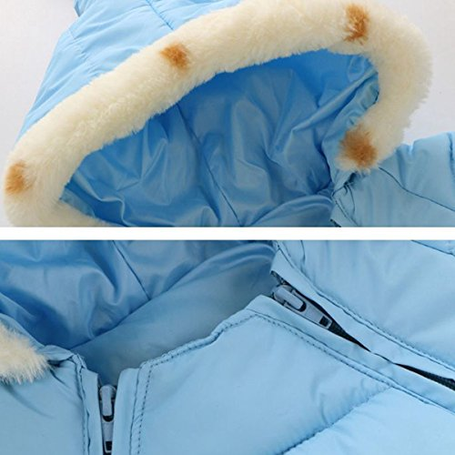 6 Hooded 48 Warm Puffer Happy Romper Jumpsuit Cherry Snowsuit Blue Jacket Down Baby Thick Winter Sky Months Outerwear 0ww6OqfI