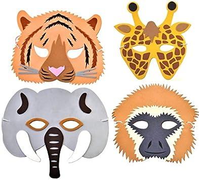 6 Gibbon Monkey Foam Childrens Animal Face Masks by Blue Frog Toys