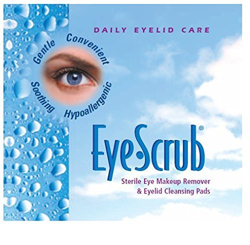Eye Scrub Sterile Eye Makeup Remover & Eyelid Cleansing Individually Wrapped Pre-moistened Pads, 30 Count by ALCON PHARMACEUTICAL