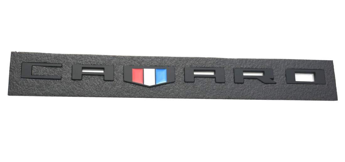 2pcs Redline Aimoll Camaro Emblem Badges 3D Letter Replacement for Silverado Camaro RS Chevy Redline Style