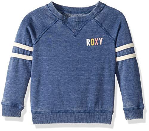 (Roxy Little Ordinary Girl Pullover Sweatshirt, True Navy, 4)