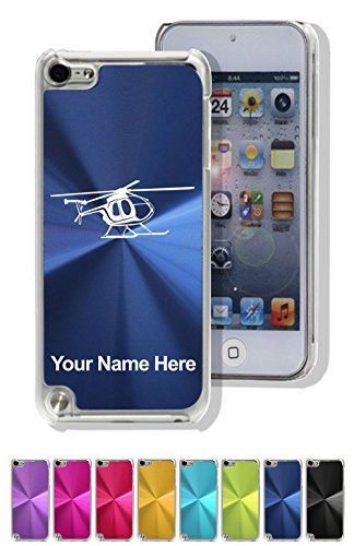 (Case Compatible with iPod Touch 5th/6th Gen, Helicopter 1, Personalized Engraving Included)
