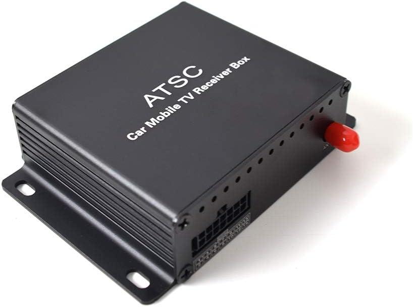 Car ATSC Tuner Digital TV Receiver Box for USA Canada, HDTV USB DVR Recording Function Multimedia TV Tuner Live Box with AV USB HDMI Plug 12V-24V