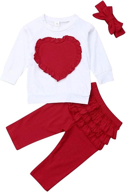 2PCS Toddler Kid Baby Girl Ruffle Tops Long Pants Outfit Clothes Summer Holiday