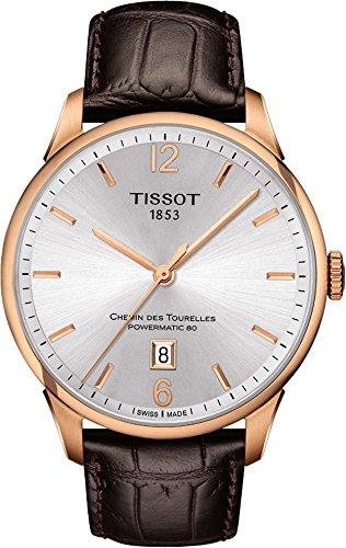 Tissot Men's T0994073603700 Chemin Des Tourelles Powermatic 82 Analog Display Swiss Automatic Brown Watch