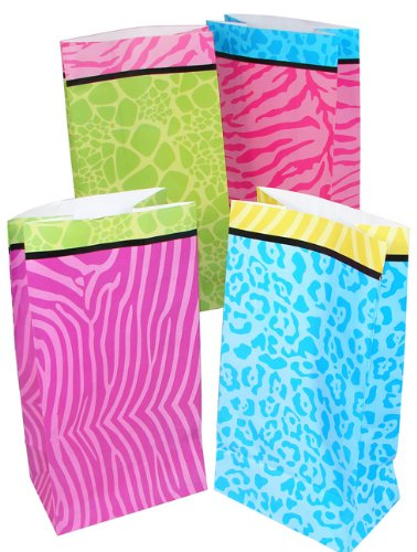 Party Animal Print Treat Bags
