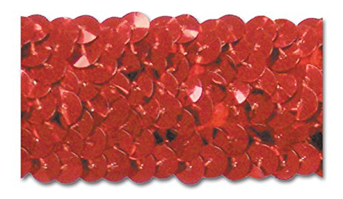 RED 1-1/4 INCH STRETCH SEQUIN-NEW!!!! LOW PRICE 10 Yards by Trimplace