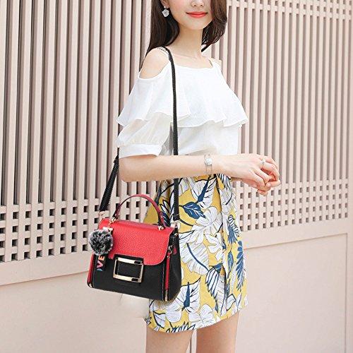 à Fashion Pour Womens Shoulder D'été Small Sacs Totes Cadeaux Les Féminines Purse Mini PU Messenger Blackred Filles De Main Iq7q5