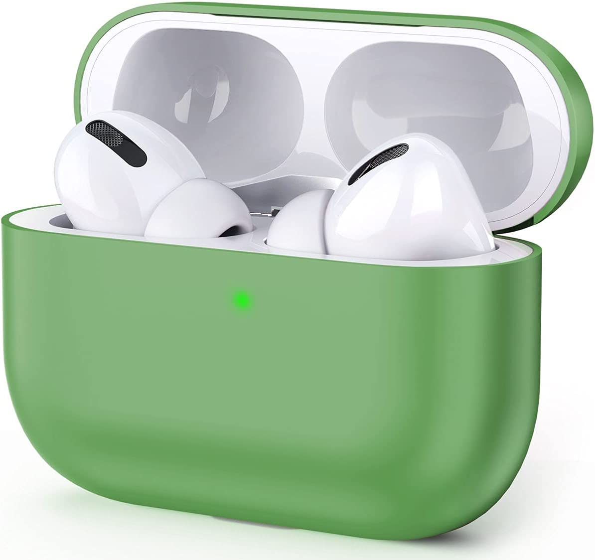 Mochen Compatible for Airpods Pro Case Cover 2019, [Front LED Visible] [Shock Proof] Soft Silicone Protective Cover for Apple Airpods 3 (Green) …