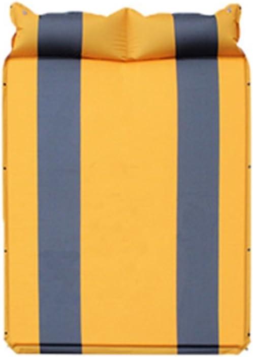 Lishangl 軽量スリーピングパッド、テントスリーピングパッド、キャンプやハイキングに最適、スリーピングパッド2人用 (Color : Yellow)