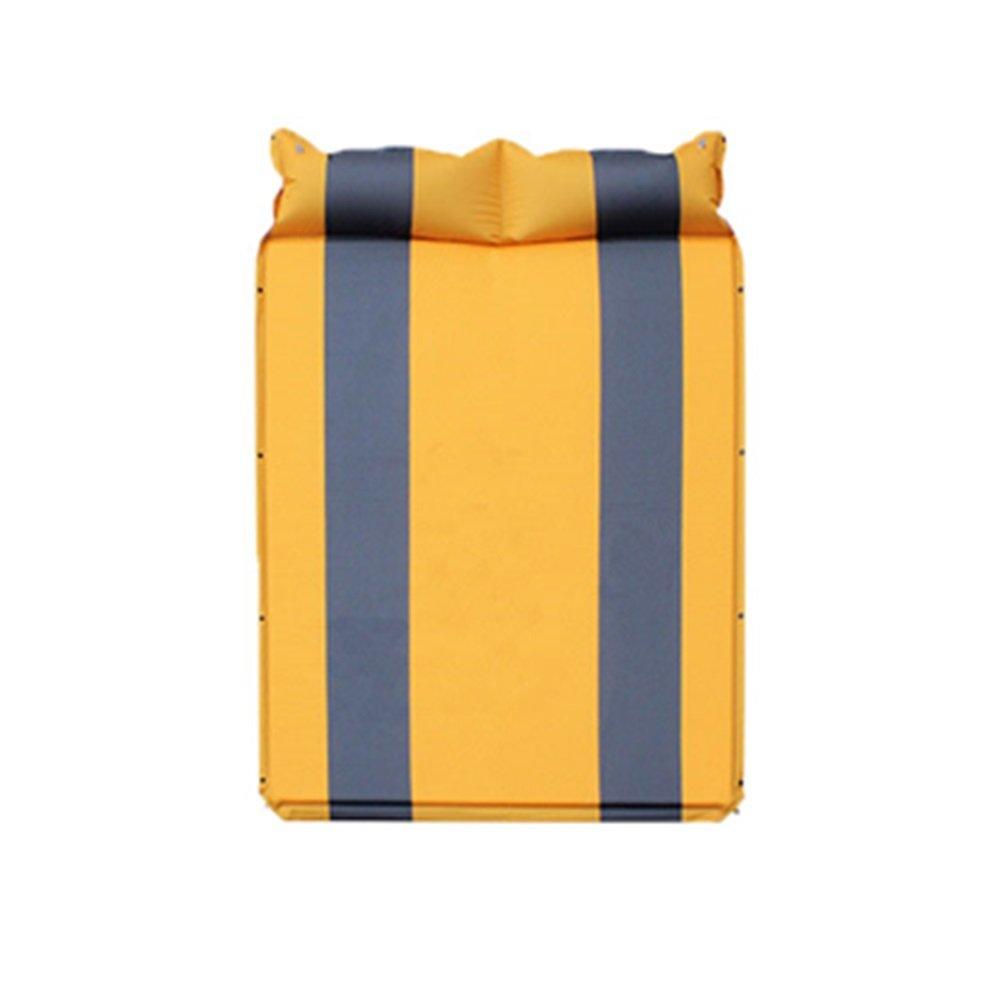 KYAWJY 軽量スリーピングパッド、テントスリーピングパッド、キャンプやハイキングに最適、スリーピングパッド2人用 B07MYLFTVS Yellow  Yellow