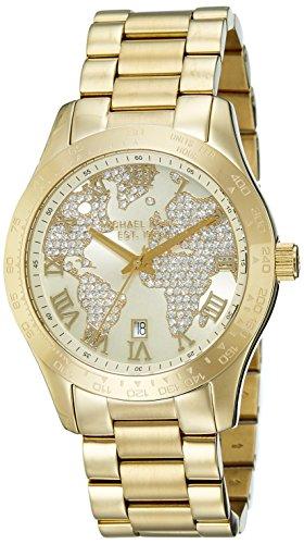 Michael Kors Women's Layton Gold-Tone Watch MK5959 (Watch World Map Mk)