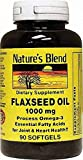 Nature's Blend Flaxseed Oil 1000mg Gelcaps 90 CT Pack of 12