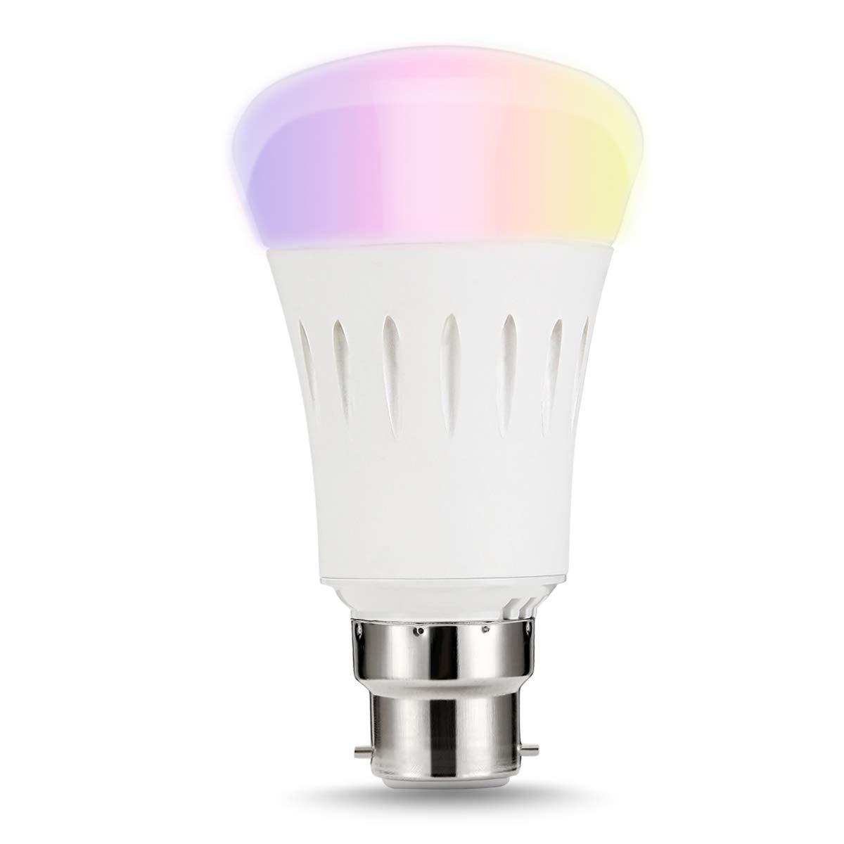 LOHAS® 9W B22 WLAN Multi Farbe Smart LED Lampen, Dimmbar, Ersatz für 60W Glühbirnen, 810lm, Steuerbar via App, Einstellung der Szene, intelligentes Leben, wählen Sie zuerst Smart Home