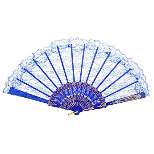 Pattern Chinese Style Lace Hand Held Folding Fan Dance Party Wedding Hand Fan Cool Bamboo Flower Personalized 19feb19,H