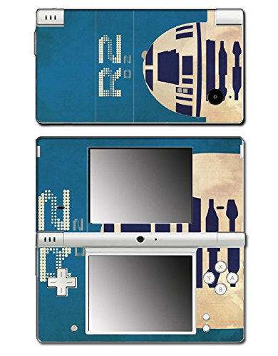 Star Wars Luke R2D2 R2-D2 Retro Poster Style Video Game Vinyl Decal Skin Sticker Cover for Nintendo DSi System