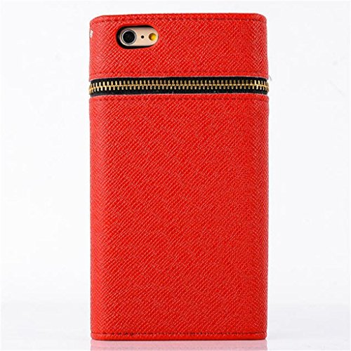 """(Case for Iphone 6/4.7 inch) Bon Venu Unique Textured PU Leather Zipper Leather Flip Wallet Card Holder with Golden rivets Magnetic Money Pocket Case Multicolor Phone Bag Cover for Apple iPhone 6 4.7"""" case+Screen Protector (Pattern 3)"""