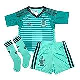 adidas Boys Infant Boys Spain Home Goalkeeper Mini Kit in Green - 3-4
