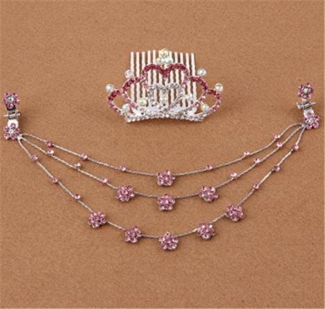 Generic Crown Princess children every day special chain diamond tiara girls hair accessories baby hairpin children hairpin Korea by Generic (Image #4)