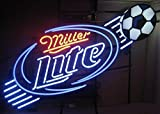 Urby™ 24''x20'' M iller L ite S occer Custom Neon Light Sign Beer Bar Sign 3-Year Warranty-Excellent Handicraft! SP48