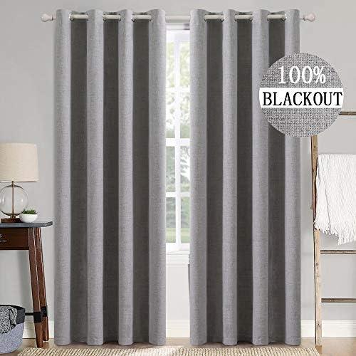 MIULEE Linen Texture Curtain