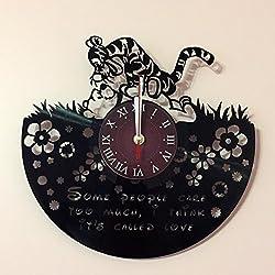 WINNIE THE POOH - Disney Vinyl Record Wall Clock - Kids Room wall decor - Gift ideas for kids, girls, boys, teens - Cartoon Unique Art Design