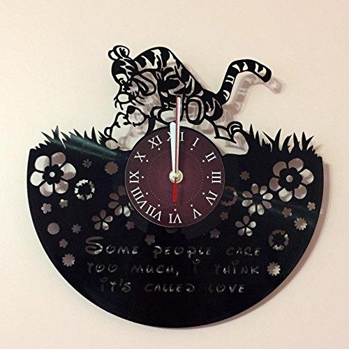 (WINNIE THE POOH - Disney Vinyl Record Wall Clock - Kids Room wall decor - Gift ideas for kids, girls, boys, teens - Cartoon Unique Art Design)