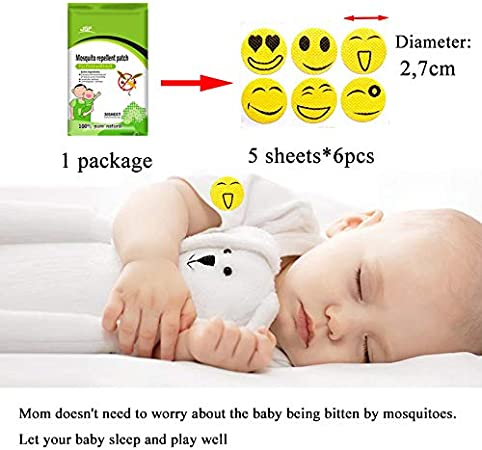 Kit Moustiquaire Blanc Universel pour Poussette Diam/ètre: 145 cm 30pcs Autocollants Anti-moustiques pour Enfants Protection pour Poussettes Lits Moustiques