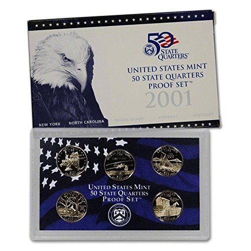 2001 S Clad Proof State Quarter Set OGP in box Proof