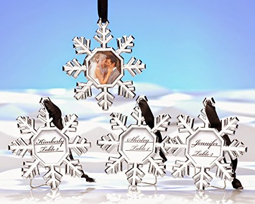 152 Snowflake Place Card Holder/Ornament by Kate Aspen