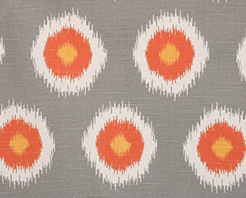 Fabric Shower Curtain - IKAT DOMINO CHILI PEPPER - 72