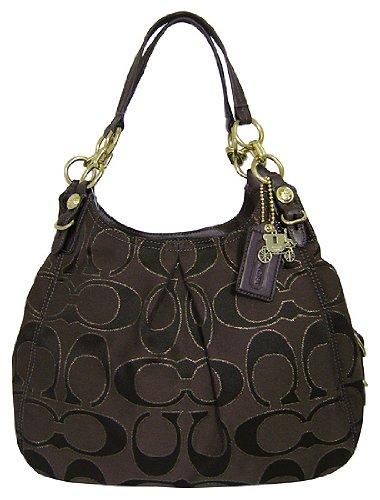 c385d6221d38 Coach Signature Outline Maggie Shoulder Bag Purse 16153 Mahogany  Handbags   Amazon.com