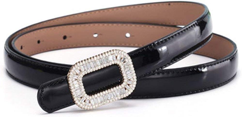 Leather Belt Ladies Bow Casual Ms Fine Belt Modern Patent