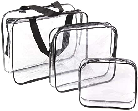 Clear Airport Toiletry Bags