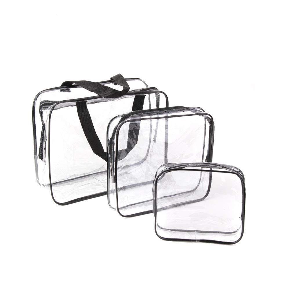 694e55fa49ff Clear Toiletries Bag, Funnasting 3 in 1 Waterproof Toiletry Travel Bag  Clear PVC Travel Bag Wash Bag Makeup Bag Travel Business Bathroom for Men,  ...