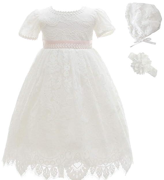 ba352762f1 AHAHA Baby Girl Bautizo Bautismo Largo Hueco Vestido de Estilo Princesa de  la Boda Vestidos Formales  Amazon.es  Ropa y accesorios