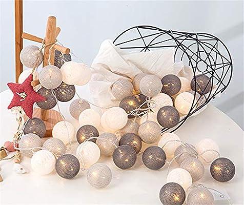 Guirnalda de luces LED con bolas de algodón de 3 m, 20 unidades ...