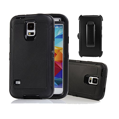 Galaxy S5 Holster Case, Harsel Defender Series Heavy Duty Tree Camo High Impact Tough Rugged Hybrid Rubber Protective w' Belt Clip Built-in Screen Protector Case Cover for Galaxy S5 -