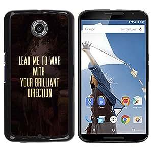 Be Good Phone Accessory // Dura Cáscara cubierta Protectora Caso Carcasa Funda de Protección para Motorola NEXUS 6 / X / Moto X Pro // War Christ Christian Solider Gold Text
