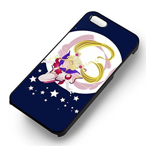 Sailor Moon Anime Cartoon pour Coque Iphone 5 or Coque Iphone 5S or Coque Iphone 5SE Case (Noir Boîtier en plastique dur) L7J7JI