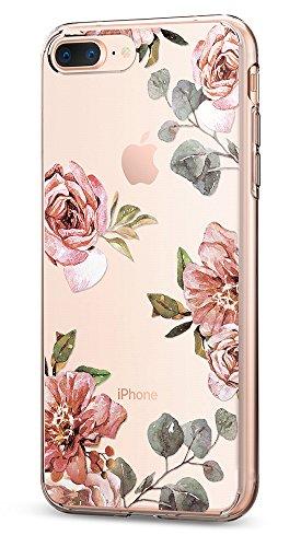 Spigen Liquid Crystal iPhone 8 Plus / 7 Plus Case with Slim Protection and Premium Clarity for iPhone 8 Plus (2017) / iPhone 7 Plus (2016) - Aquarelle Rose