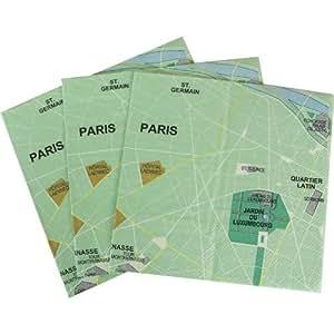 """Design Ideas 5x5"""" Paris Mapkins - Package of 20"""