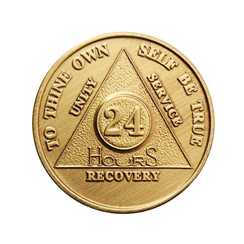 24 Hour Bronze AA (Alcoholics Anonymous) - Sober / Sobriety / Birthday / Anniversary / Recovery / Medallion / Coin / Chip
