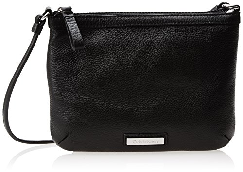 Calvin Klein Metallic Leather Zip - Calvin Klein Key Item Nylon Messenger