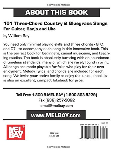 Amazon.com: 101 Three Chord Songs for Country & Bluegrass Songs For ...
