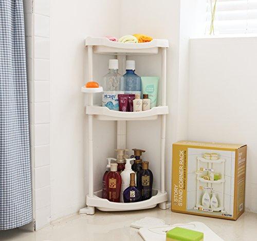 Tenby Living Corner Shower Caddy 3 Shelf Shower