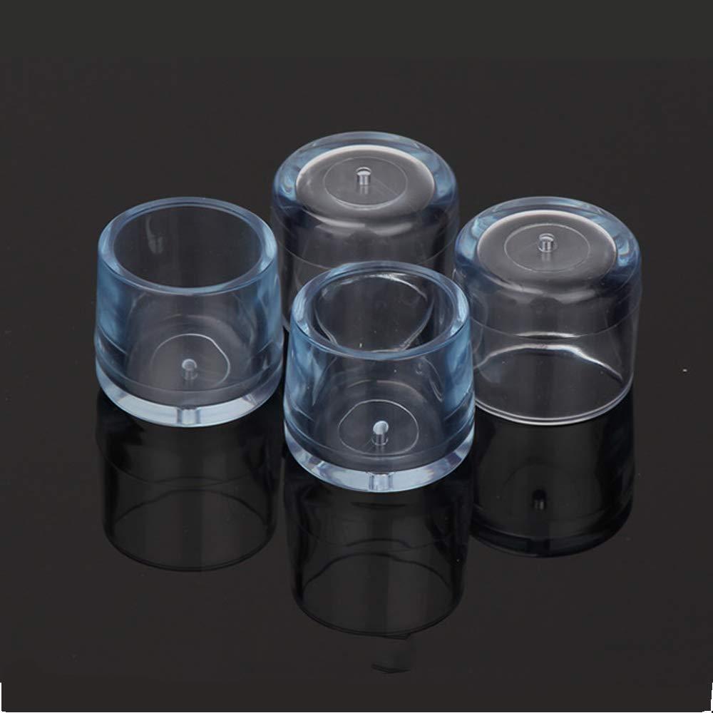 JWShang 24 Protectores para Patas de Silla de Silicona para Evitar ara/ñazos Patas de Mesa para Patas de Muebles Protector de Suelo de Madera Transparentes