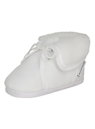meilleur service adbbb 52060 Boutique-Magique Chaussons de baptême Blanc fourrés pour ...