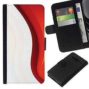 NEECELL GIFT forCITY // Billetera de cuero Caso Cubierta de protección Carcasa / Leather Wallet Case for Samsung Galaxy Core Prime // Minimalista Patrón